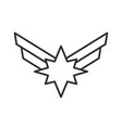 star with wings vector image vector image