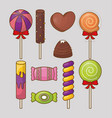 sweet candies design vector image vector image