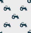 Tractor icon sign Seamless pattern with geometric vector image vector image