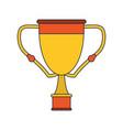 trophy cup award symbol vector image vector image
