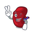 two finger spleen character cartoon style vector image vector image