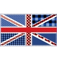 United Kingdom Flag patchwork vector image