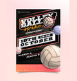 volleyball sport flyer vertical card poster vector image