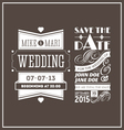 Wedding stamps brown vector image vector image