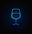 wine glass blue icon vector image vector image