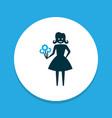 woman icon colored symbol premium quality vector image