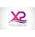 xp x p letter logo design creative icon modern vector image vector image