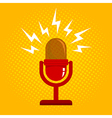 red microphone new vector image