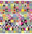 abstract art hearts flowers cute pattern vector image vector image