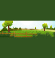 agriculture and farming summer landscape vector image