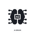 ai brain isolated icon simple element from