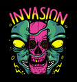 alien invasion vector image