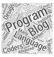 aspnet blogging software Word Cloud Concept vector image vector image