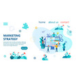 banner marketing strategy concept vector image vector image