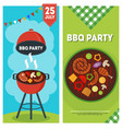bbq party vertical banners vector image