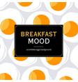 breakfast mood background vector image