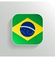 Button - Brazil Flag Icon vector image