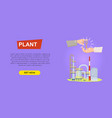buying plant online property selling web banner vector image vector image