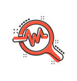 cartoon magnifying glass icon in comic style vector image vector image