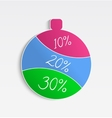 Christmas sale ornament vector image vector image