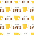 coffee time pattern vector image vector image