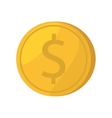 coin dollar isolated icon vector image