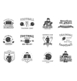 college rugand american football team campus vector image vector image