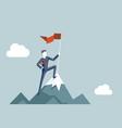 conquering heights flag businessman conqueror vector image vector image