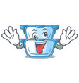 crazy cartoon double boiler for the cake steaming vector image vector image