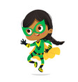 dancing african-american girl wearing colorful vector image