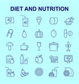diet and nutritions icons set vector image
