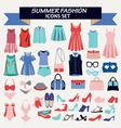 fashion summer collection of woman clothes vector image vector image