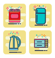 flat design elements of household goods home vector image vector image