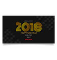 gold celebration 2018 new year sale promotion vector image vector image