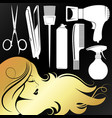 golden girl profile for a beauty salon vector image vector image