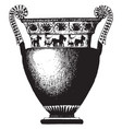 greek vase is a idealized depictions of the vector image vector image