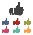 Hand icons set vector image vector image