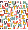hand lubberly cut colorful alphabet vector image vector image