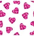 heart shape symbols isolated on white background vector image vector image