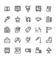 hotel line icons 9 vector image