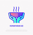 humanitarian aid thin line icon vector image