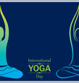 international yoga day greeting vector image