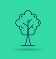 isolated linear icon of green tree vector image