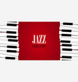 jazz concert with piano background vector image vector image