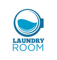 laundry room logotype with washing machine drum vector image vector image