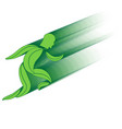 leaf environment running man concept vector image vector image