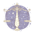 libra zodiac sign vector image