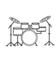 line drums musical instrument to play music vector image vector image