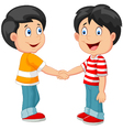 Little boys holding hand vector image
