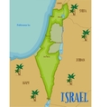 Map of Israel in cartoon style vector image